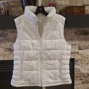 New York & Company  White Puffer Vest